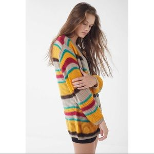 Urban Outfitters Sweaters - UO Eternal Sunshine Striped Cardigan - Small